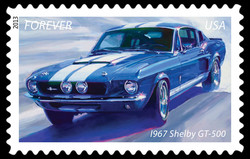 1967 Shelby GT-500 - Muscle Car United States Postage Stamp | America on the Move