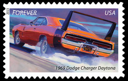 1969 Dodge Charger Daytona - Muscle Car United States Postage Stamp | America on the Move