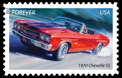 1970 Chevelle SS - Muscle Car United States Postage Stamp | America on the Move