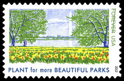 Plant for More Beautiful Parks United States Postage Stamp | Lady Bird Johnson