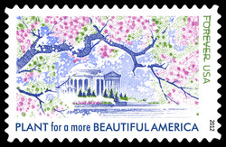 Plant for a More Beautiful America United States Postage Stamp | Lady Bird Johnson