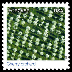 Cherry Orchard United States Postage Stamp | Earthscapes - Satellite Images