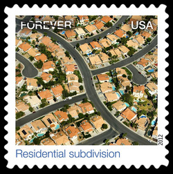 Residential Subdivision United States Postage Stamp | Earthscapes - Satellite Images