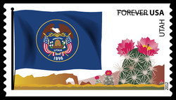 Utah Flag United States Postage Stamp   Flags of Our Nation