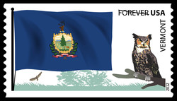 Vermont Flag United States Postage Stamp | Flags of Our Nation