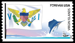 Virgin Islands Flag United States Postage Stamp | Flags of Our Nation