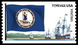 Virginia Flag United States Postage Stamp | Flags of Our Nation