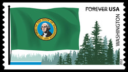 Washington Flag United States Postage Stamp | Flags of Our Nation