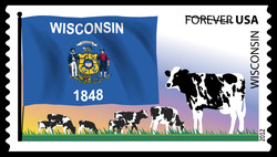 Wisconsin Flag United States Postage Stamp | Flags of Our Nation