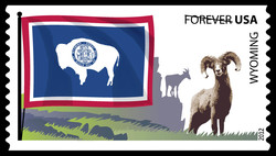 Wyoming Flag United States Postage Stamp | Flags of Our Nation