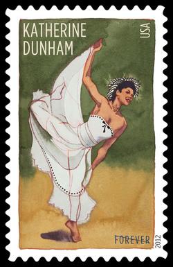 Katherine Dunham United States Postage Stamp | Innovative Choreographers