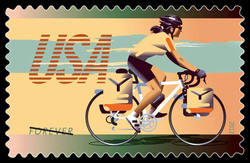 Commuter Bike United States Postage Stamp | Bicycling