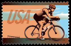 Road Racing Bike United States Postage Stamp | Bicycling