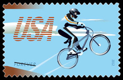 BMX Stunt Bike United States Postage Stamp | Bicycling