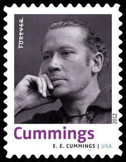 E. E. Cummings United States Postage Stamp | Twentieth-Century Poets