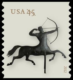 Centaur Weather Vane United States Postage Stamp | Weather Vanes
