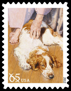 Therapy Dog United States Postage Stamp | Dogs at Work