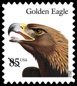 Golden Eagle United States Postage Stamp | Birds of Prey
