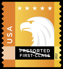 Orange-Yellow Eagle United States Postage Stamp | Spectrum Eagle