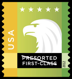 Yellow-Green Eagle United States Postage Stamp | Spectrum Eagle