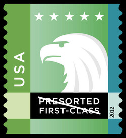 Green-Aqua Eagle United States Postage Stamp | Spectrum Eagle