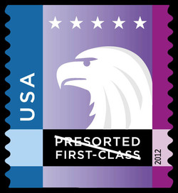 Blue-Purple Eagle United States Postage Stamp | Spectrum Eagle