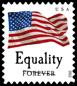 Equality Flag United States Postage Stamp | Four Flags