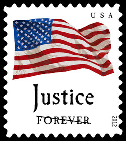 Justice Flag United States Postage Stamp | Four Flags