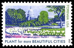 Plant for More Beautiful Cities United States Postage Stamp | Lady Bird Johnson