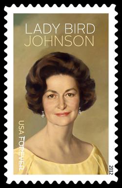 Lady Bird Johnson United States Postage Stamp | Lady Bird Johnson