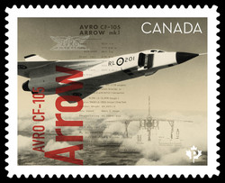 Avro CF-105 Arrow Canada Postage Stamp | Canadians in Flight