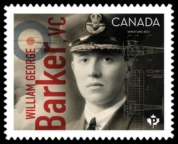 William George Barker, VC Canada Postage Stamp | Canadians in Flight