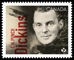 C.H. Punch Dickins Canada Postage Stamp | Canadians in Flight