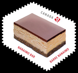 Nanaimo Bar Canada Postage Stamp | Sweet Canada
