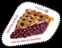 Saskatoon Berry Pie Canada Postage Stamp | Sweet Canada