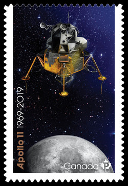 Apollo 11, 1969-2019 Canadian Postage Stamp Series