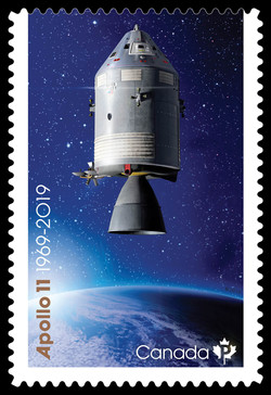 Apollo 11 Command and Service Module Canada Postage Stamp | Apollo 11, 1969-2019