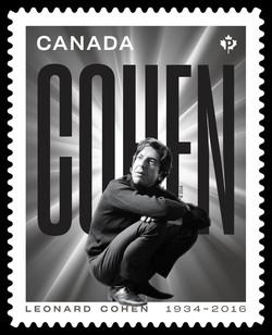 Leonard Cohen - Silver Canada Postage Stamp | Leonard Cohen