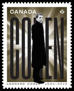 Leonard Cohen - Gold Canada Postage Stamp | Leonard Cohen
