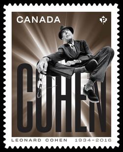 Leonard Cohen - Bronze Canada Postage Stamp | Leonard Cohen