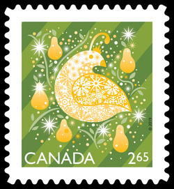 Partridge in a Pear Tree Canada Postage Stamp | Shiny and Bright - Christmas 2019