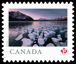 Abraham Lake - Alberta Canada Postage Stamp | From Far and Wide