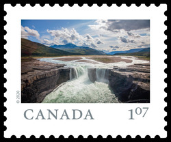 Carcajou Falls - Northwest Territories Canada Postage Stamp | From Far and Wide