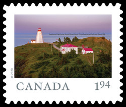 Swallowtail Lighthouse, Grand Manan Island - New Brunswick Canada Postage Stamp | From Far and Wide