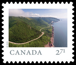 Cabot Trail, Cape Breton Island - Nova Scotia Canada Postage Stamp | From Far and Wide
