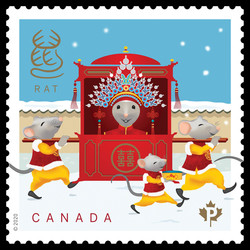 Year of the Rat - Domestic Canada Postage Stamp | Chinese New Year
