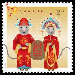 Year of the Rat - International Canada Postage Stamp | Chinese New Year