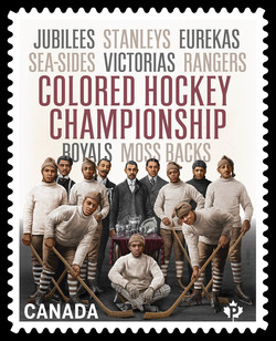 Colored Hockey Championship Canada Postage Stamp | Black History Month