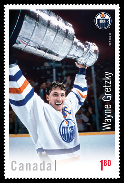 Wayne Gretzky Canada Postage Stamp | Canadian Hockey Legends