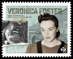 Veronica Foster - Ronnie the Bren Gun Girl Canada Postage Stamp | Victory in Europe Day